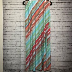 Chico's Multicolored Long Maxi Skirt